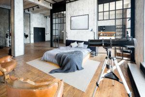 Schlafzimmer Industrial Loft